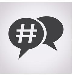 hashtag social media icon vector image