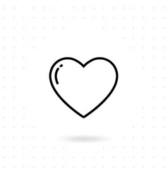 heart and love icon vector image