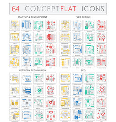 Infographics concept icons startup development vector
