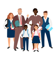 international school concept teachers and vector image