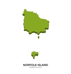 Isometric map of Norfolk Island detailed vector image