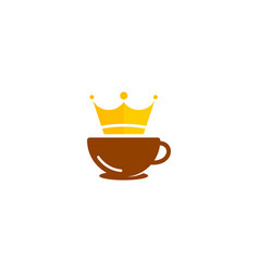 king coffee logo icon design vector image
