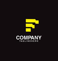 letter f building logo vector image