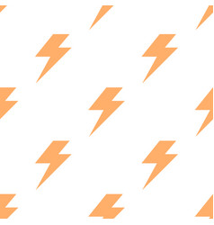 lightning bolt flash seamless pattern thunderbolt vector image