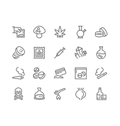 Line Drugs Icons vector