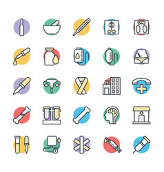 Medical and Health Cool Icons 3 vector