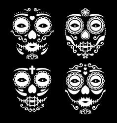 Mexican la catrina face design vector
