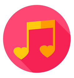 Music circle icon vector