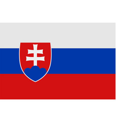 national symbol of slovakia flag vector image