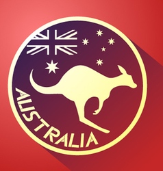 nice australia icon vector image