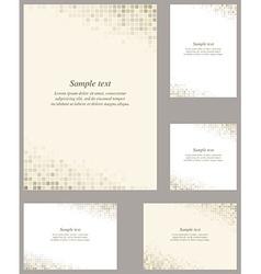 Page corner design template set vector