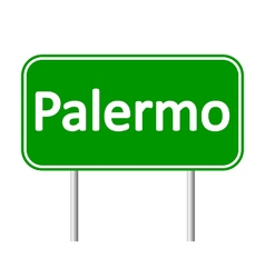 Palermo road sign vector