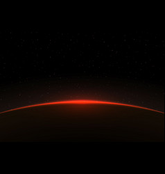 Planet sunrise vector