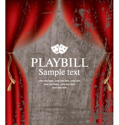 playbill vector image
