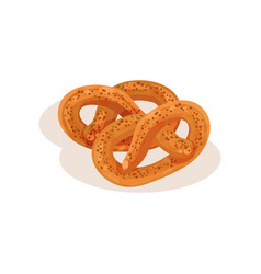 pretzel bakery pastry fresh tasty product vector image