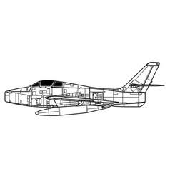 Republic f-84f thunderstreak vector