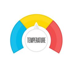 round temperature gauge vector image
