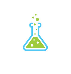science lab flask - chemical laboratory vector image