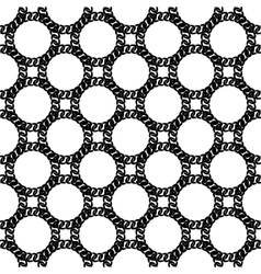 Seamless Black White Chain Pattern vector image