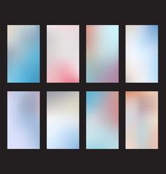 Set abstract light blur backgrounds smartphones vector