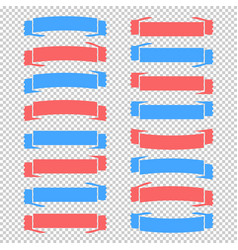 Set of colored isolated banner ribbons on a vector