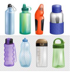 sport bottle sportive water bottled drink vector image