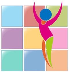 Sport icon for gymnastics floor exercise vector