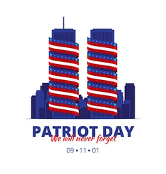 to patriot day in america vector image