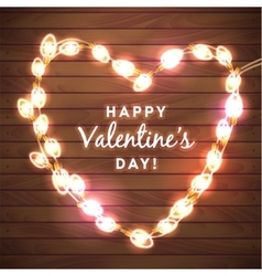 Valentine s day background with bright lights vector image
