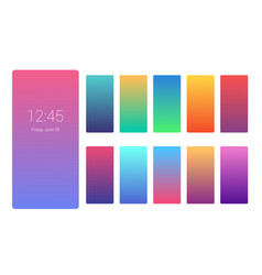 vivid color background design on smartphone screen vector image
