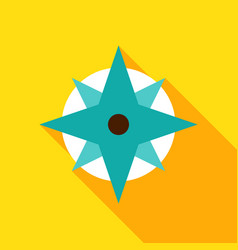 Wind rose object icon vector