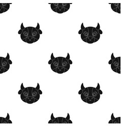 Cow muzzle icon in black style isolated on white vector
