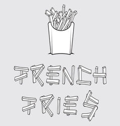 French fries1 resize vector image vector image