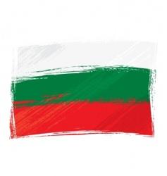 grunge Bulgaria flag vector image vector image