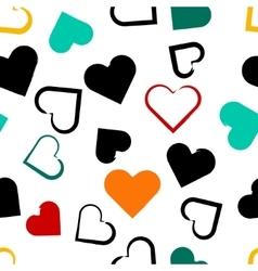 Seamless universal pattern Hearts vector image