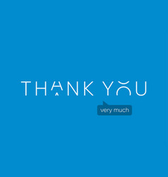 thank-you-logo-with-capitals-letters-in-movement vector image
