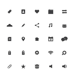 Black Website Icons Set vector image vector image