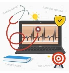 Computer doctor concept vector