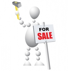 sign announcing the sale vector image vector image