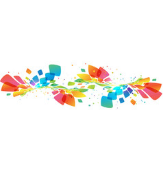 abstract multicolored wave on white vector image vector image