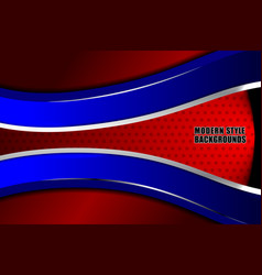 business modern red blue background vector image vector image