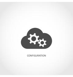 Database configuration icon vector image