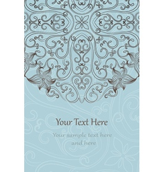 Elegant invitation cards vector image vector image