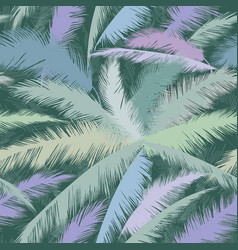floral pattern palm tree leaves nature spring vector image