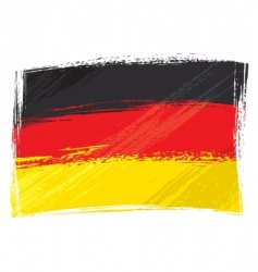 grunge germany flag vector image vector image