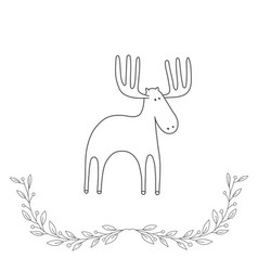 hand drawn with a deer vector image