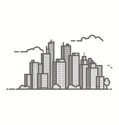 Line city vector