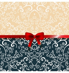Vintage romantic background floral card vector image vector image