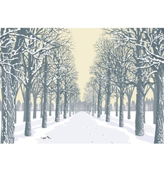 Winter day vector image vector image