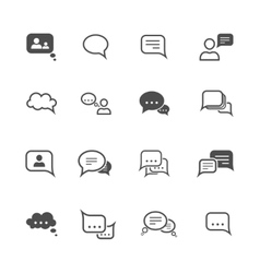Chat icon set vector image vector image